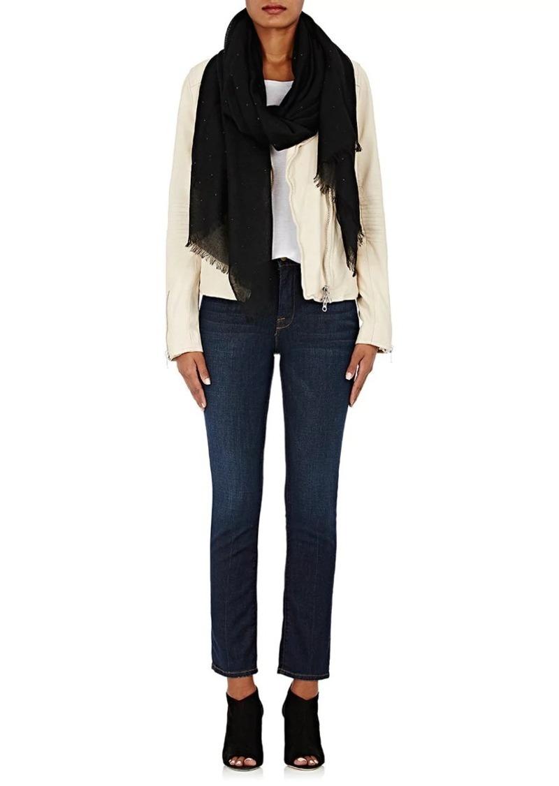 Barneys New York Women's Crystal-Embellished Cashmere Gauze Scarf - Black
