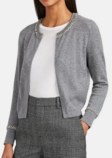 Barneys New York Women's Crystal-Embellished Cashmere Open-Front Cardigan