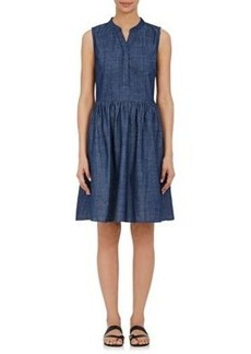 Barneys New York Women's Denim Sleeveless Dress