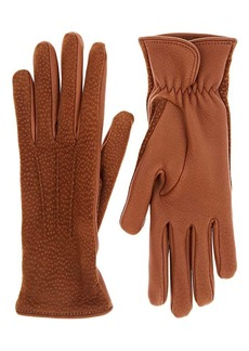 Barneys New York Women's Dotted Deerskin Gloves