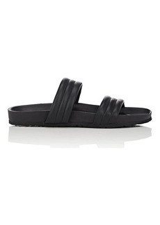 Barneys New York Women's Double-Band Leather Slide Sandals