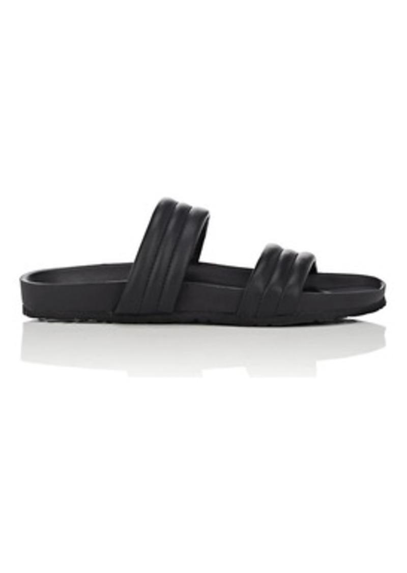 Barneys New York Women's Double-Band Leather Slide Sandals
