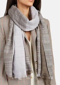 Barneys New York Women's Double-Faced Cashmere Scarf - Neutral