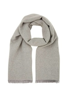 Barneys New York Women's Double-Faced Mélange Wool Scarf - Gray