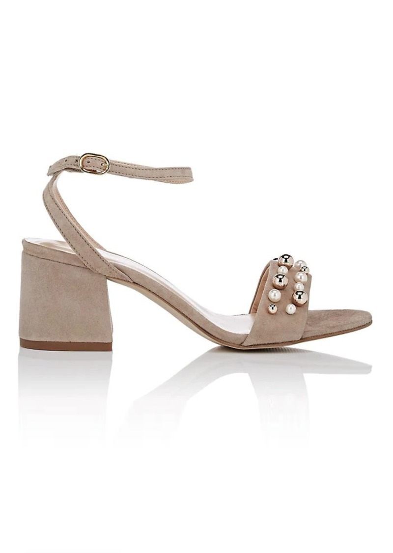 Barneys New York Women's Embellished Suede Sandals