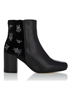 Barneys New York Women's Embellished Velvet Ankle Boots
