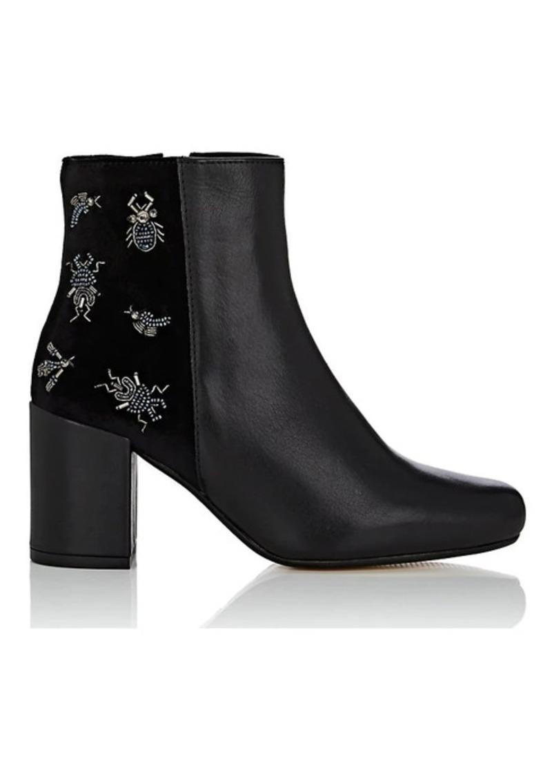 Barneys New York Women's Embellished Velvet Ankle Boots