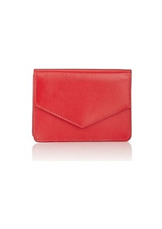Barneys New York Women's Envelope Card Case - Red