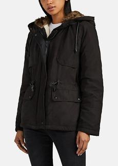 Barneys New York Women's Faux-Fur-Trimmed Hooded Coat
