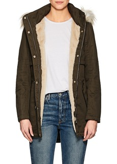 Barneys New York Women's Faux-Fur-Trimmed Twill Parka