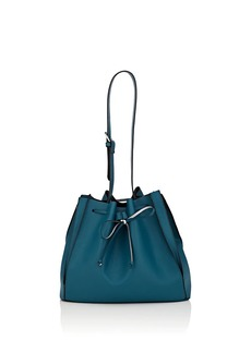 Barneys New York Women's Faux-Leather Bucket Bag - Blue