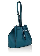 Barneys New York Women's Faux-Leather Bucket Bag - Blue
