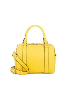 Barneys New York Women's Faux-Leather Mini Duffel Bag - Yellow
