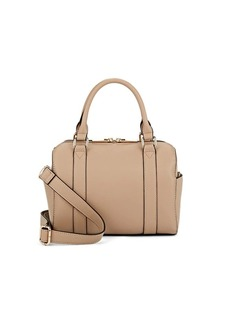 Barneys New York Women's Faux-Leather Mini Duffel Bag-Beige, Tan