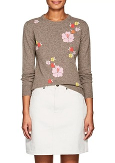 Barneys New York Women's Floral Cashmere Sweater