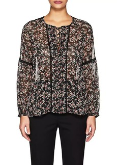 Barneys New York Women's Floral Chiffon Blouse