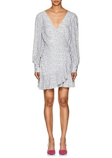 Barneys New York Women's Floral Crepe Long-Sleeve Dress