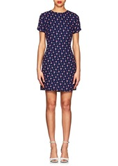 Barneys New York Women's Floral Crepe Shift Dress