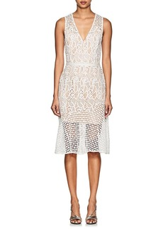 Barneys New York Women's Floral Lace Sleeveless Dress