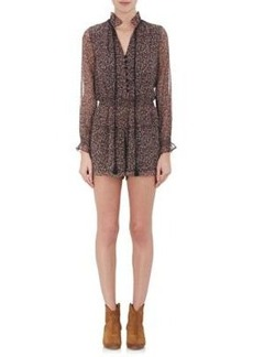 Barneys New York Women's Floral Long-Sleeve Romper