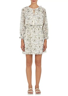 Barneys New York Women's Floral Plissé Chiffon Blouson Dress