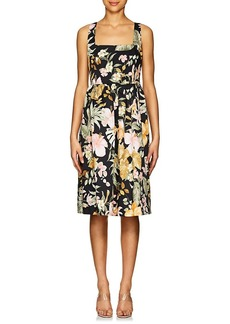 Barneys New York Women's Floral Poplin A-Line Dress