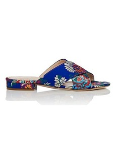 Barneys New York Women's Floral Satin Brocade Slide Sandals