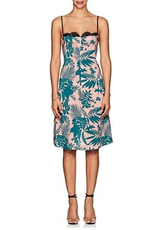 Barneys New York Women's Floral Silk Bustier Dress