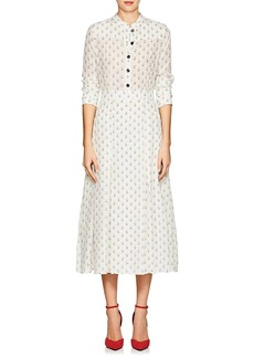 Barneys New York Women's Floral Silk Crêpe De Chine Maxi Shirtdress