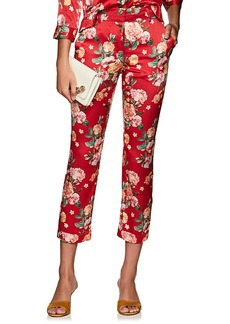 Barneys New York Women's Floral Silk Pajama Pants