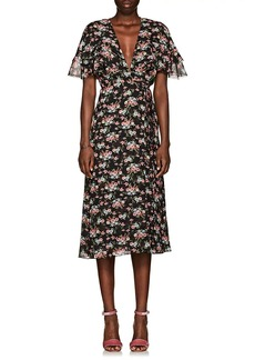Barneys New York Women's Floral Voile Wrap Dress