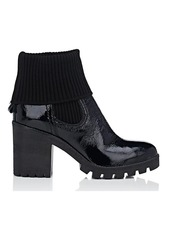 Barneys New York Women's Foldover-Cuff Patent Leather Ankle Boots