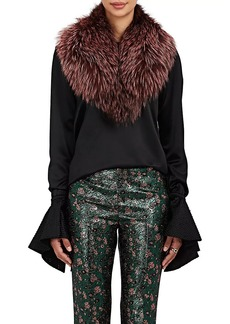 Barneys New York Women's Fox Fur Collar Scarf - Pink
