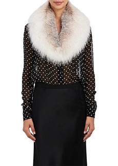 Barneys New York Women's Fox Fur Collar Scarf - Neutral