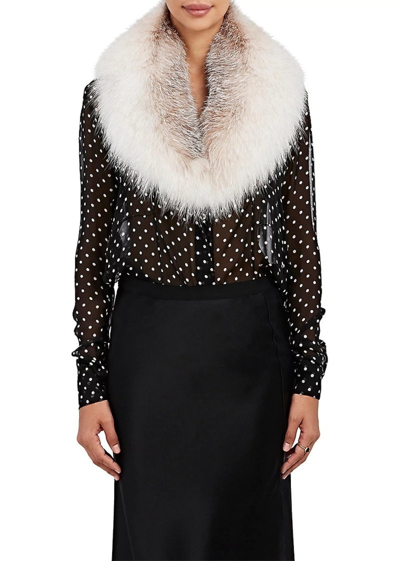Barneys New York Women's Fox Fur Collar Scarf - Neutral