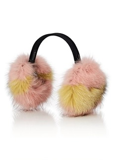 Barneys New York Women's Fox Fur Earmuffs - Pink