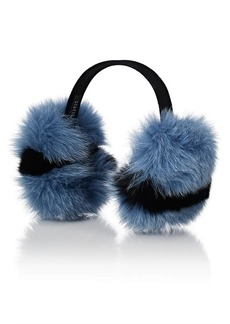 Barneys New York Women's Fox Fur Earmuffs - Blue