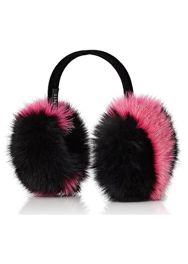 Barneys New York Women's Fox-Fur Earmuffs - Pink