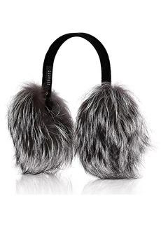 Barneys New York Women's Fox-Fur Earmuffs - Gray