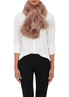 Barneys New York Women's Fox Fur Pull-Through Scarf - Pink