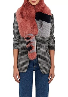 Barneys New York Women's Fox-Fur Scarf - Pink