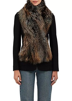Barneys New York Women's Fox Fur Scarf - Neutral