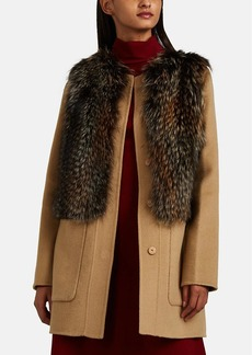 Barneys New York Women's Fox-Fur-Trimmed Wool-Cashmere Melton Jacket