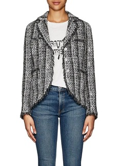 Barneys New York Women's Frayed-Edge Tweed Jacket