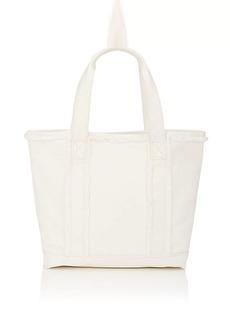 Barneys New York Women's Frayed Small Tote Bag - White