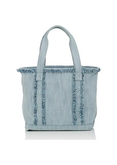 Barneys New York Women's Frayed Small Tote Bag - Lt. Blue