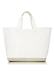 Barneys New York Women's Frayed Tote - Ivorybone
