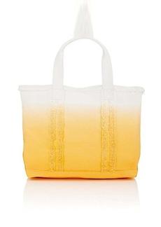 Barneys New York Women's Frayed Tote Bag - Orange