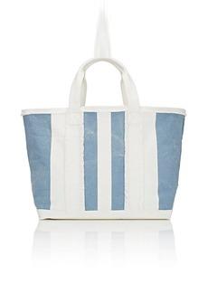 Barneys New York Women's Frayed Tote Bag - Lt. Blue