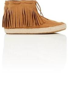Barneys New York Women's Fringed Ankle Boots